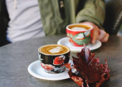 Осенние фото 2017 листья кофе