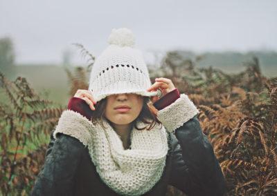 Осенние фото 2017 девушка в шапке
