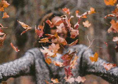 Осенние фото 2017 листья девушка