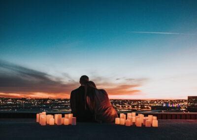 влюбленная пара закат День святого Валентина