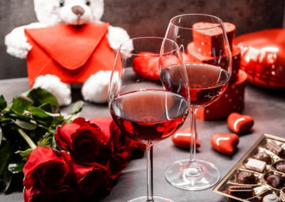 день Святого Валентина красивые фото свидание бокалы вина