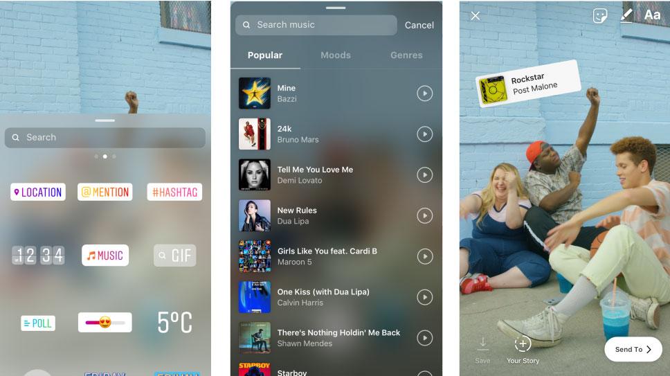 добавить музыку на фото и видео в Инстаграм Истории Андроид и Айфон