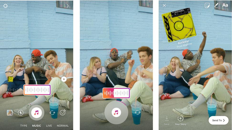 добавить музыку в Инстаграм Истории Айфон на фото и видео