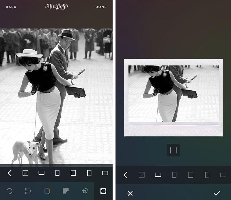 приложение для черной рамки на фото