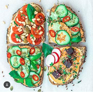 идеи фото лето для инстаграм бутерброд
