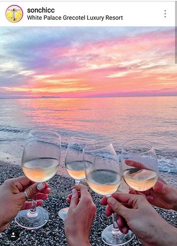 идеи фото летом для инстаграм море вино