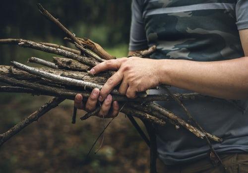 осенние идеи фото для инстаграм хворост в лесу