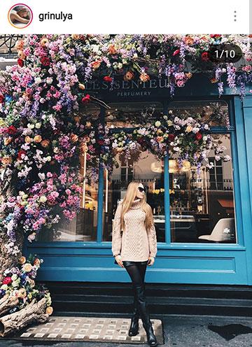 идеи фото осенью для инстаграм - красивая девушка в свитере