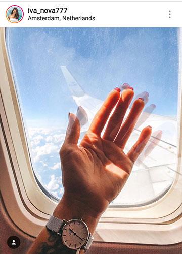 фото летом для инстаграм в самолете