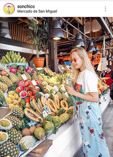 фото на улице летом фрукты для инстаграм