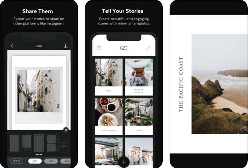 приложение для Инстаграм Историй коллаж фото видео. Unfold