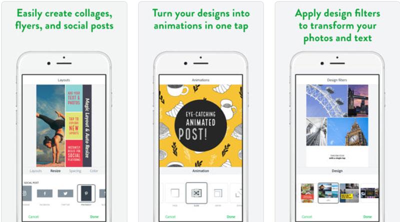 приложение для Инстаграм Историй Adobe